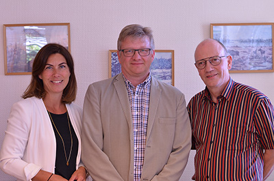 Pictured from left to right: Ingela Lidström, Senior Investment Manager Partnerinvest Norr, Jan Hörnberg, CEO Protab, Arne Morén, CEO Ackra Invest.